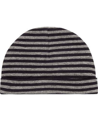 Bonnet rayé gris